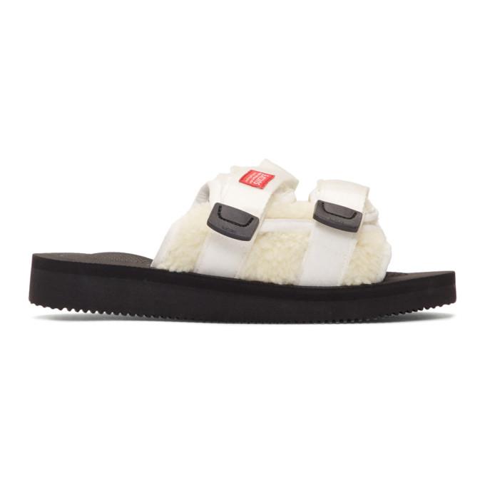 John Elliott White and Black Suicoke Edition MOTO-JEab-E Sandals