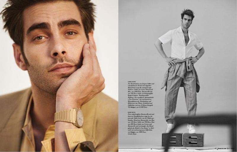 Jon Kortajarena Dons Spring Suits for Monsieur Cover Story