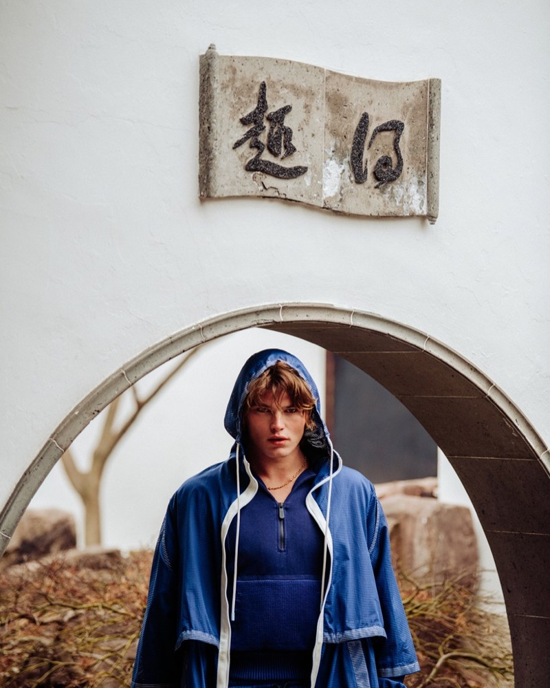 Jordan Barrett Explores Chinatown with GQ Style Russia