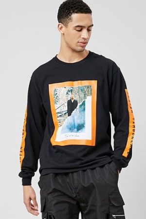 Justin Timberlake Graphic Tee at Forever 21 Black/orange