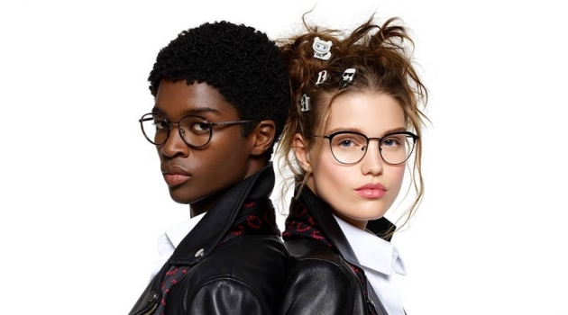 Alton Mason and Luna Bijl star in Karl Lagerfeld's spring-summer 2019 campaign.