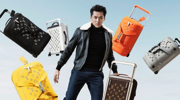 Kris Wu fronts Louis Vuitton's Horizon Soft Luggage campaign.