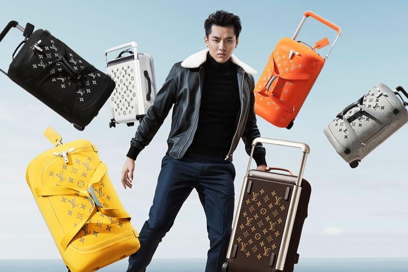 Kris Wu fronts Louis Vuitton's Horizon Soft Luggage campaign.