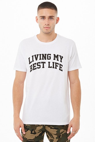Living My Best Life Graphic Tee at Forever 21 White/black