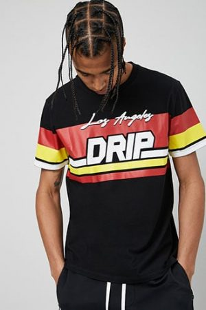 Los Angeles Drip Graphic Tee at Forever 21 Black/red