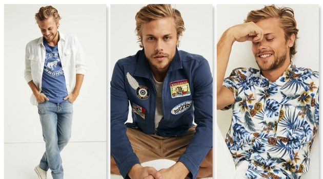 Christopher Mason Models Casual Spring Style from Lucky Brand