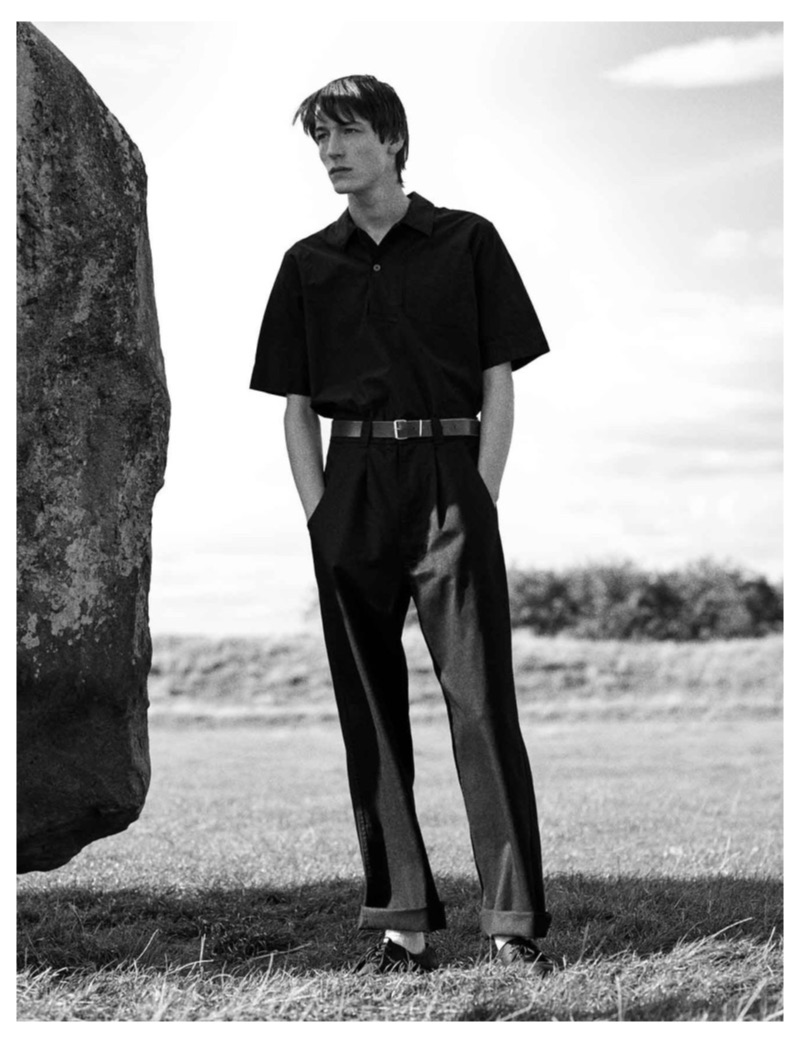 Nick Fortna stars in the MHL by Margaret Howell spring-summer 2019 campaign.