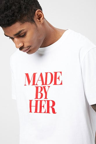 Made By Her Graphic Tee at Forever 21 White/red