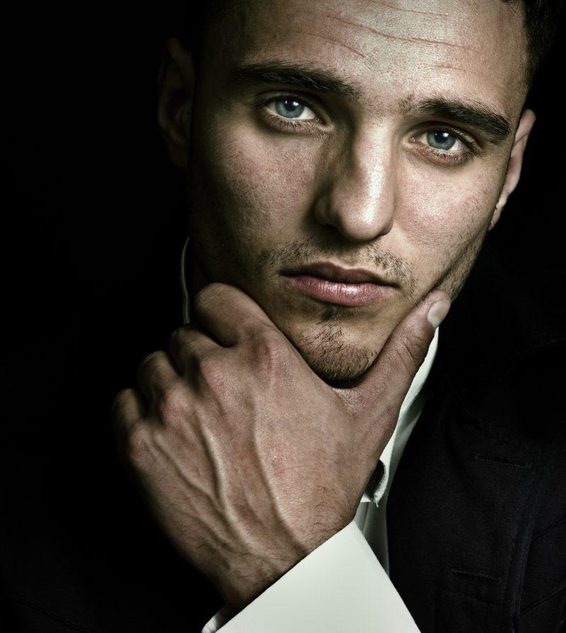 Male Model Blue Eyes