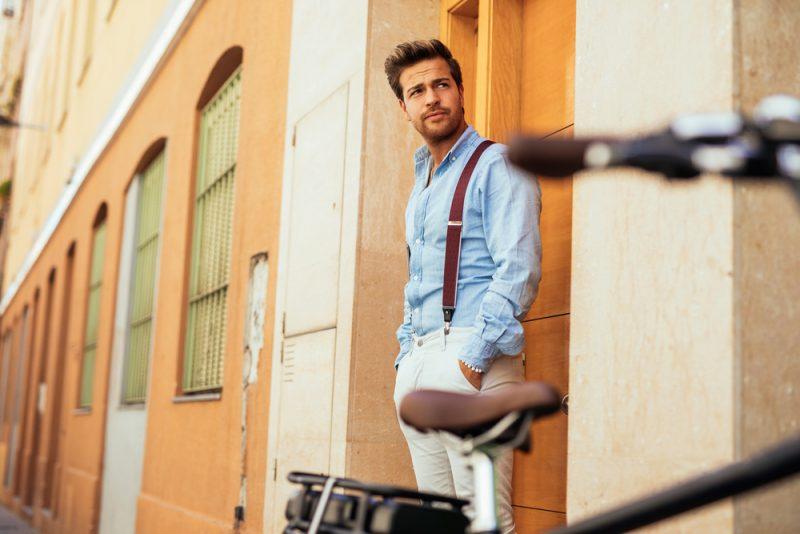 Male Model Stylish Suspenders