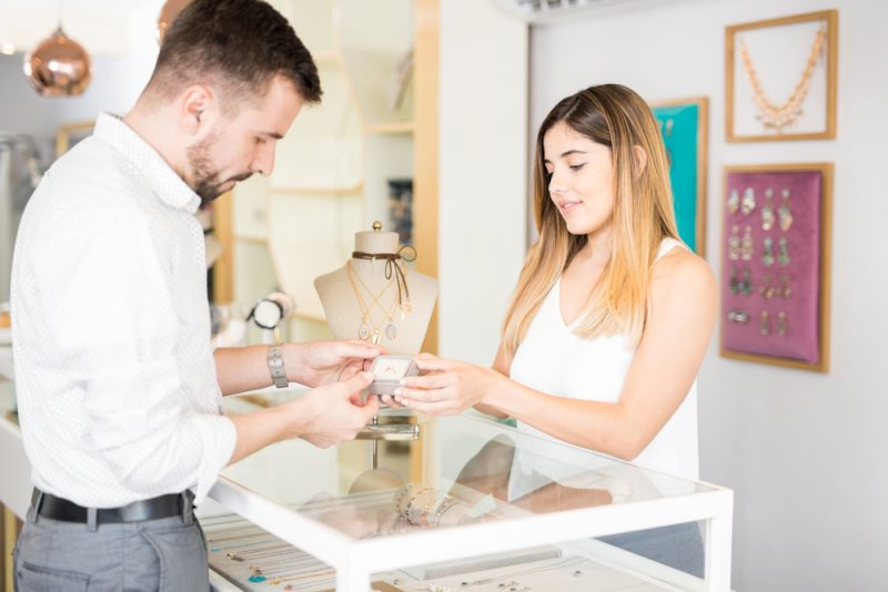 Image result for man ring shopping photo