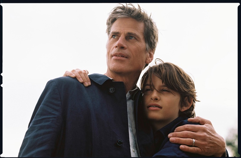 Mark Vanderloo and his son star in a story for Massimo Dutti.