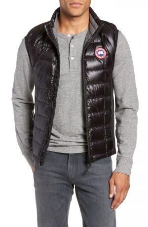 Men's Canada Goose 'Hybridge(TM) Lite' Slim Fit Packable Quilted 800-Fill Down Vest, Size Medium - Black