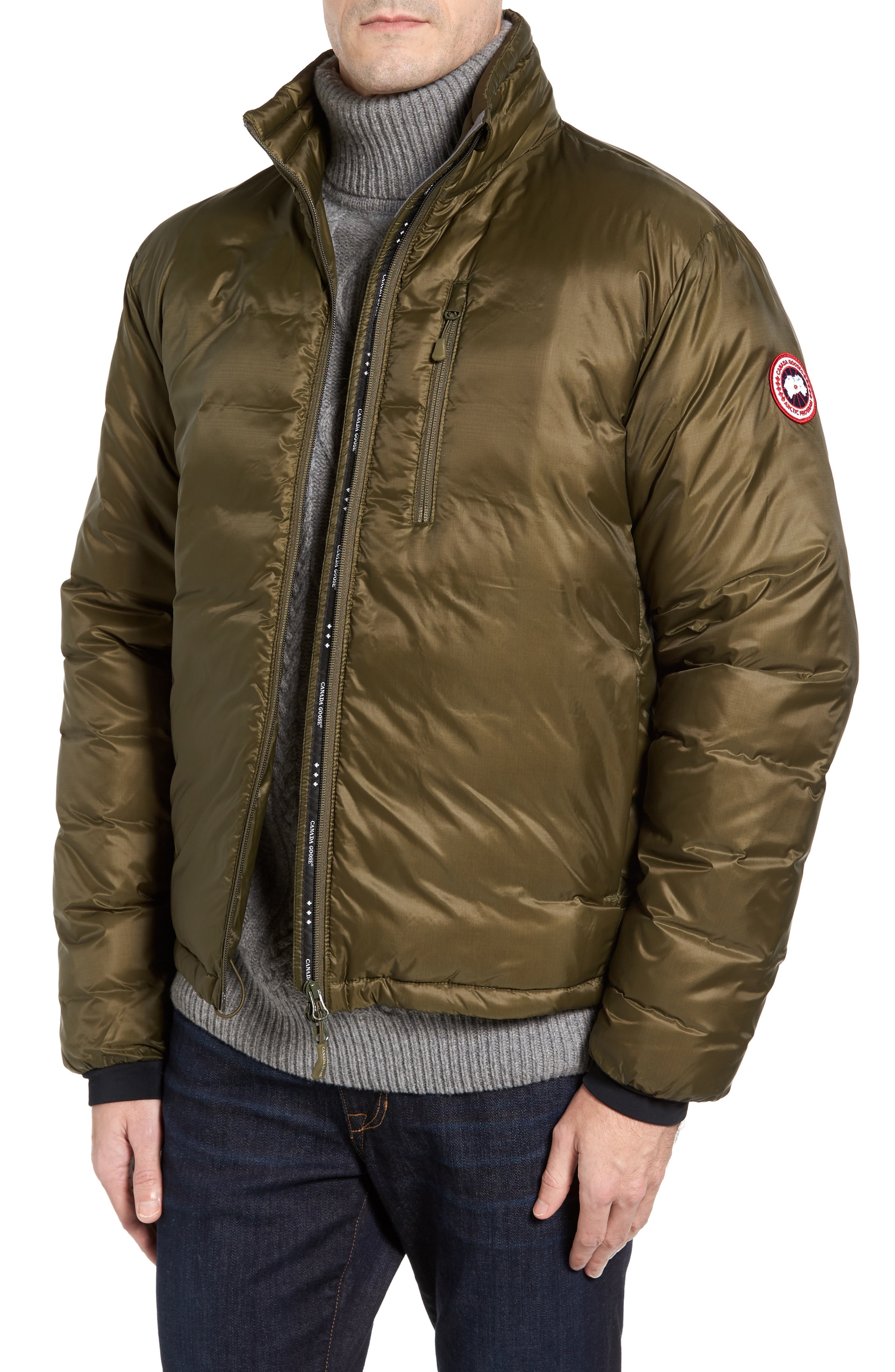 e047af85112 Men's Canada Goose 'Lodge' Slim Fit Packable Windproof 750 Down Fill  Jacket, Size Medium - Green