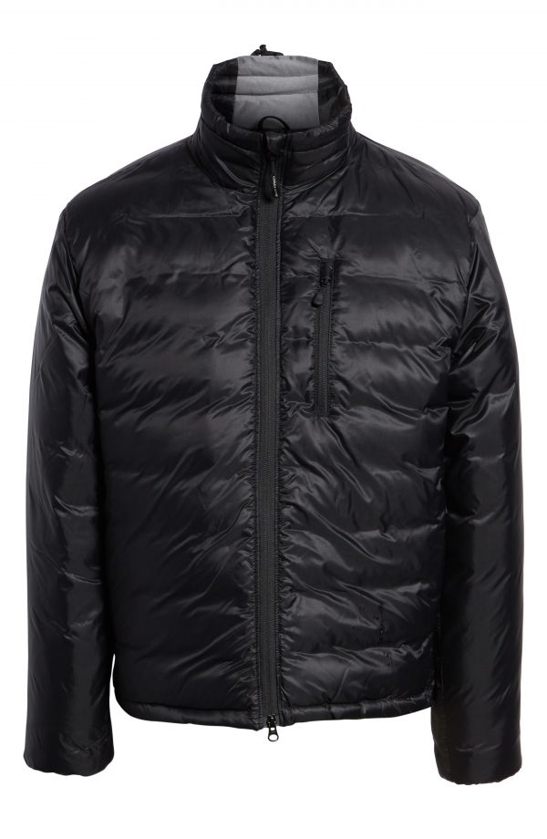 Men's Canada Goose 'Lodge' Slim Fit Packable Windproof 750 Down Fill Jacket, Size Small - Black