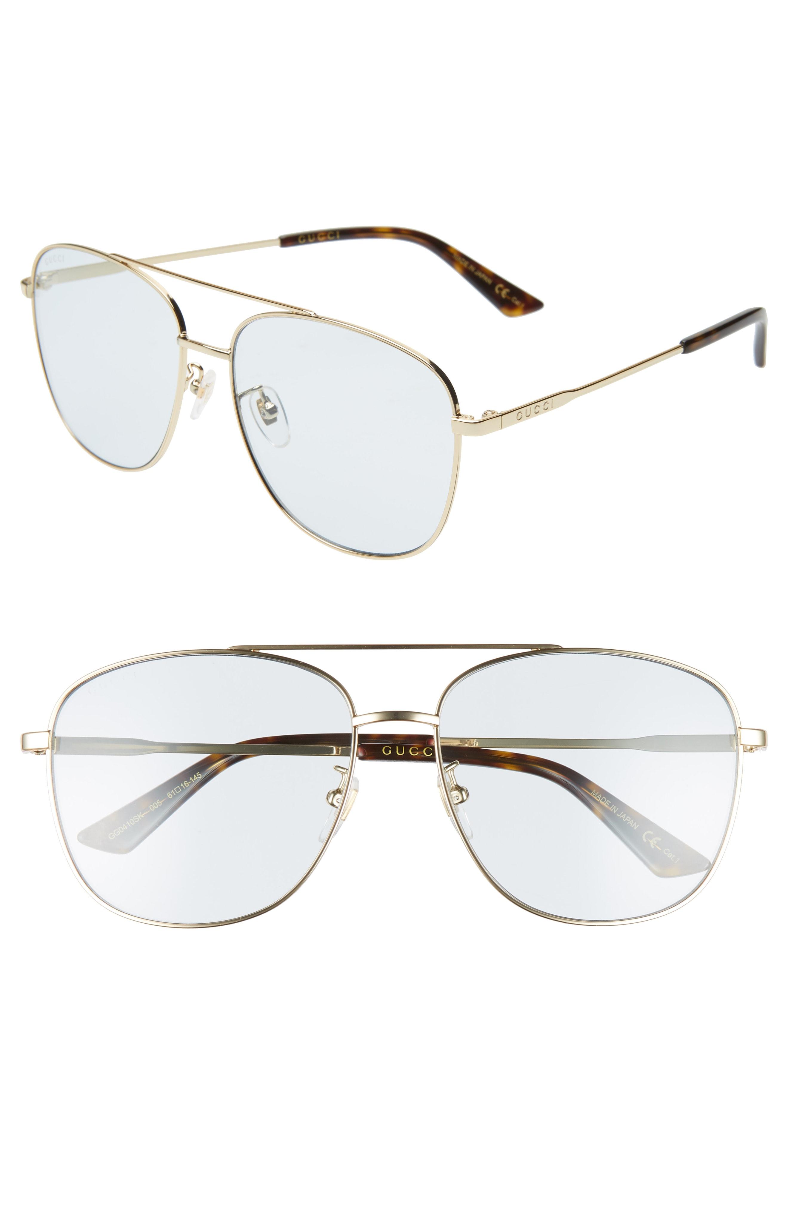 57b4a7140eb79 Men s Gucci 61Mm Navigator Sunglasses – Gold