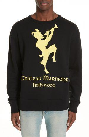 Men's Gucci Chateau Marmont Graphic Sweatshirt, Size XX-Large - Black