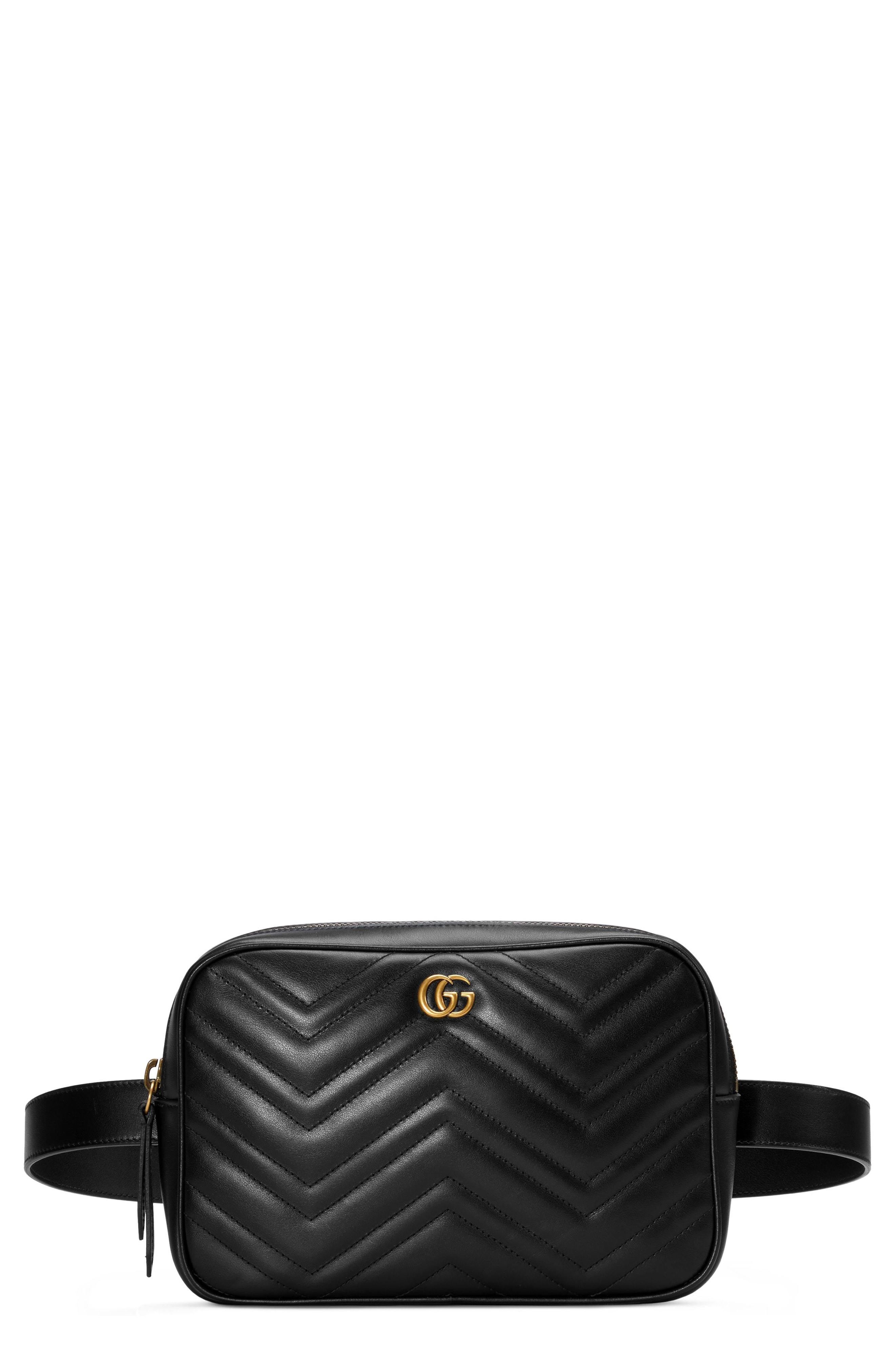 72e2998977d303 Men's Gucci Gg Marmont 2.0 Matelasse Convertible Leather Belt Bag – | The  Fashionisto