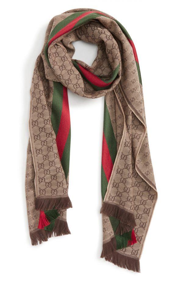 Men's Gucci Verbier Wool & Silk Scarf