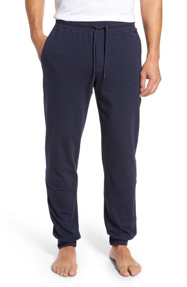 Men's Hanro Living Lounge Pants, Size Large - Black