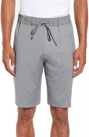 Men's Hanro Night & Day Knit Shorts, Size Large - Grey