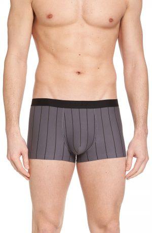 Men's Hanro Shadow Cotton Blend Trunks, Size Large - Black