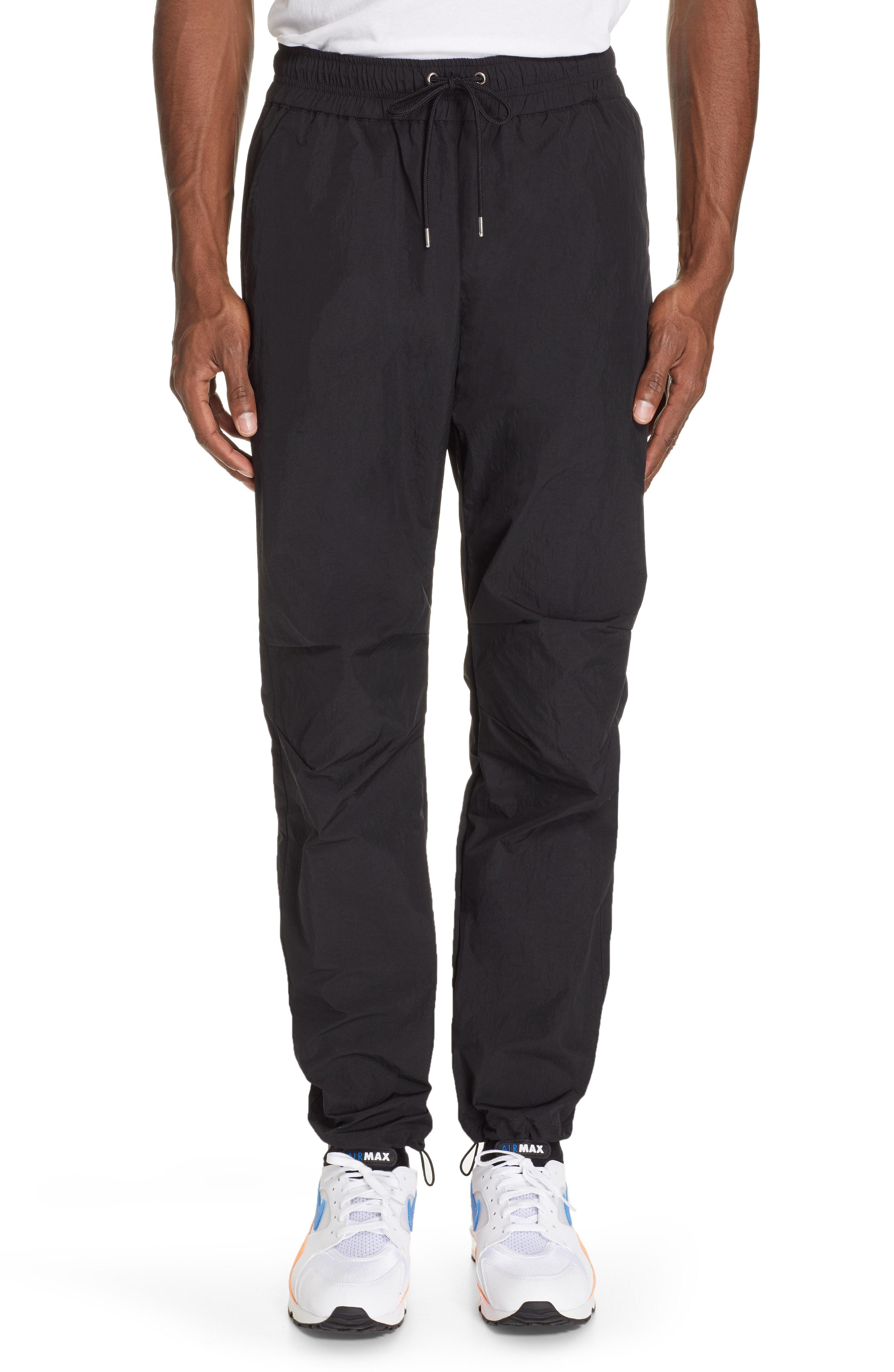 Men's John Elliott Himalayan Nylon Jogger Pants, Size Small - Black