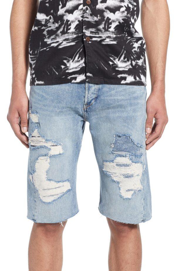 Men's Levi's Lej Distressed Cut-Off Denim Shorts, Size 29 - Blue
