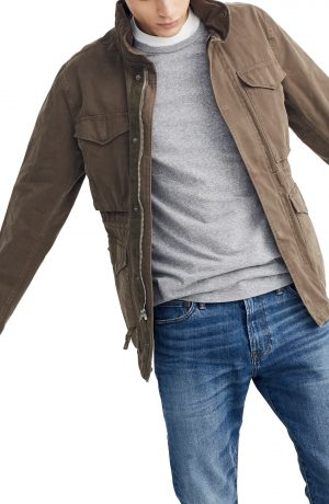 Men's Madewell Slim Fit Field Jacket, Size Small - Green