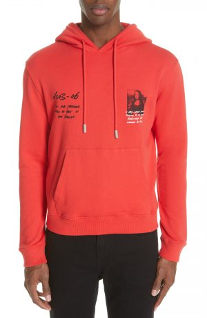 Men's Off-White Monnalisa Slim Fit Graphic Hoodie, Size Large - Red