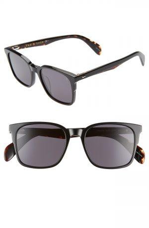 Men's Rag & Bone 52Mm Sunglasses - Black