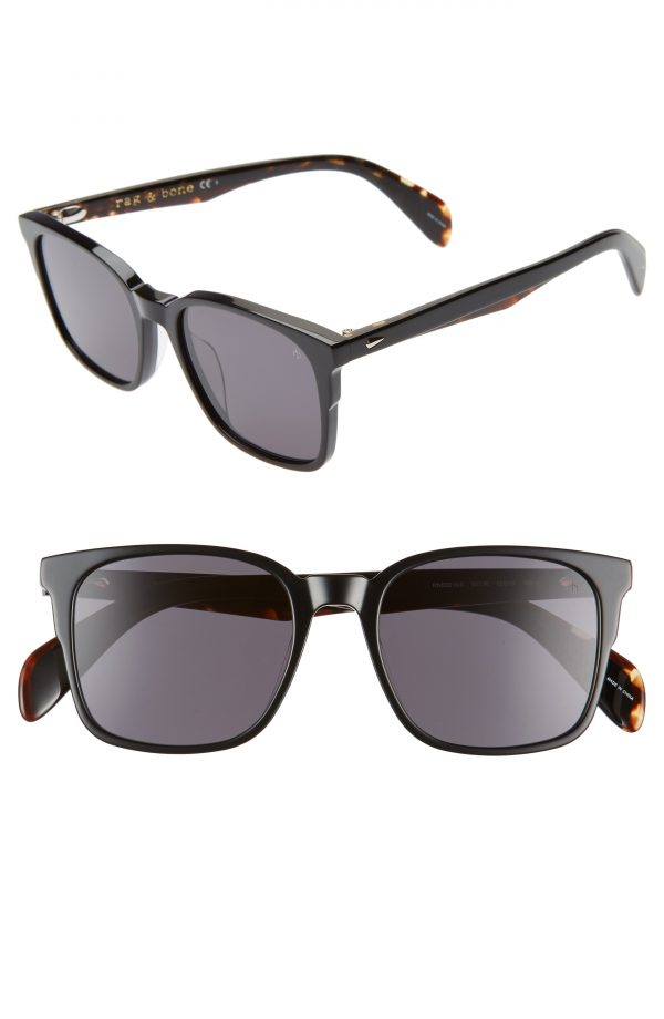 Men's Rag & Bone 52Mm Sunglasses - Black
