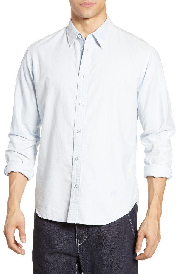 Men's Rag & Bone Fit 2 Tomlin Slim Fit Sport Shirt, Size Medium - White