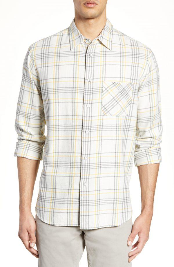 Men's Rag & Bone Fit 3 Classic Beach Shirt, Size Small - Ivory