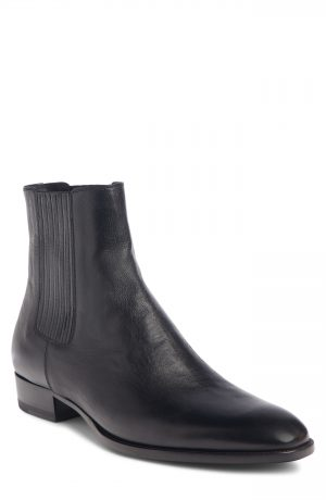 Men's Saint Laurent Wyatt Chelsea Boot, Size 12US / 45EU - Black