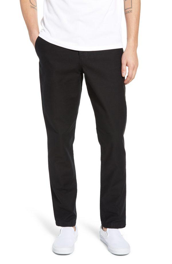 Men's Saturdays Nyc Field Slim Fit Pants, Size 29 - Black