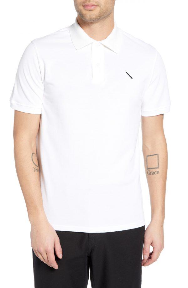 Men's Saturdays Nyc Jake Pique Polo, Size Small - White