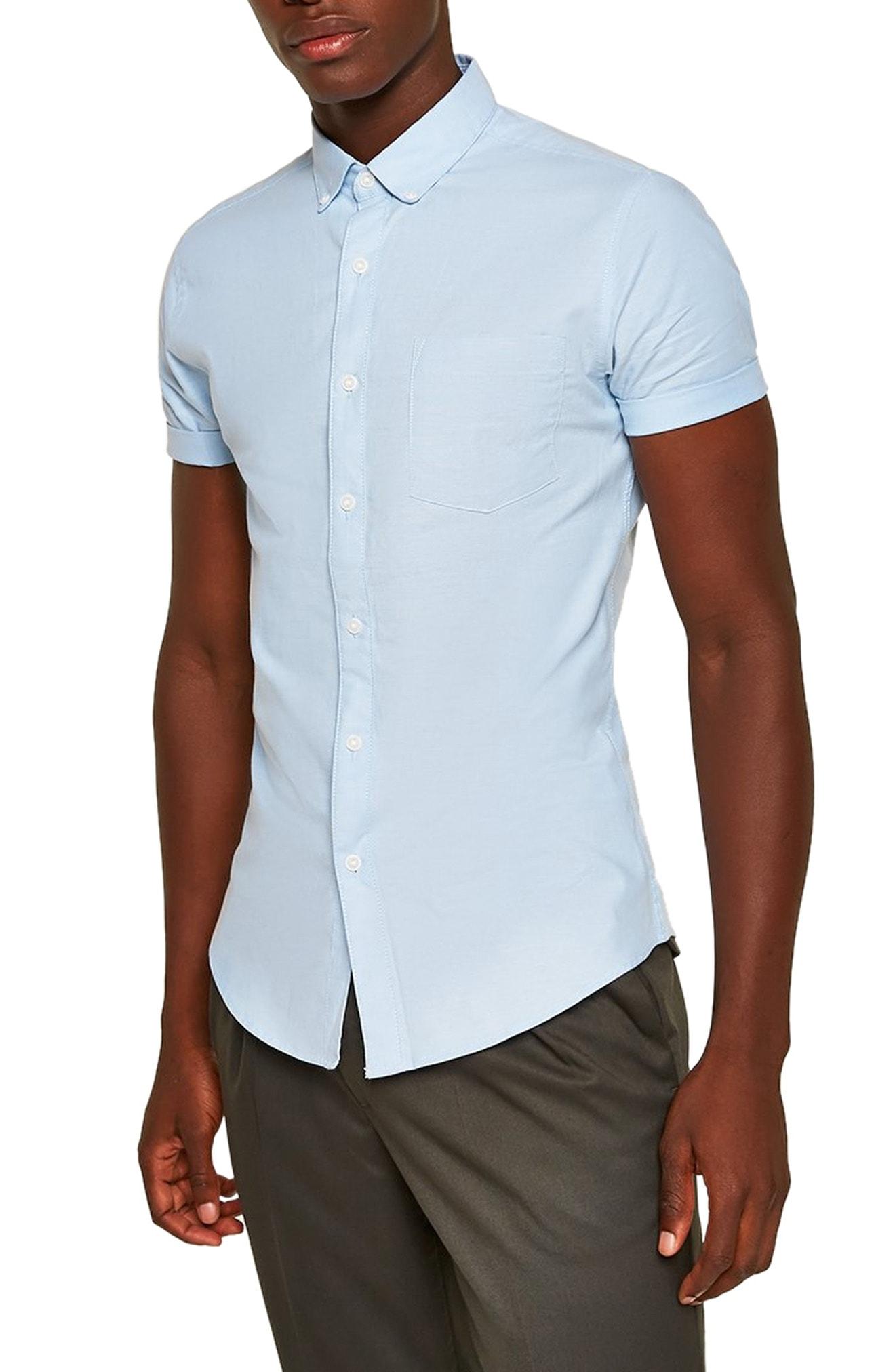 aa6aa9f9507 Men s Topman Muscle Fit Oxford Shirt