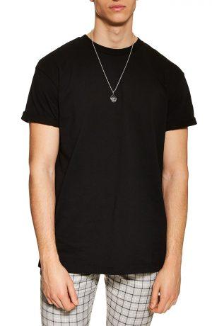 Men's Topman Oversize Fit T-Shirt, Size Large - Black