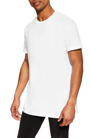 Men's Topman Oversize Fit T-Shirt, Size Large - White