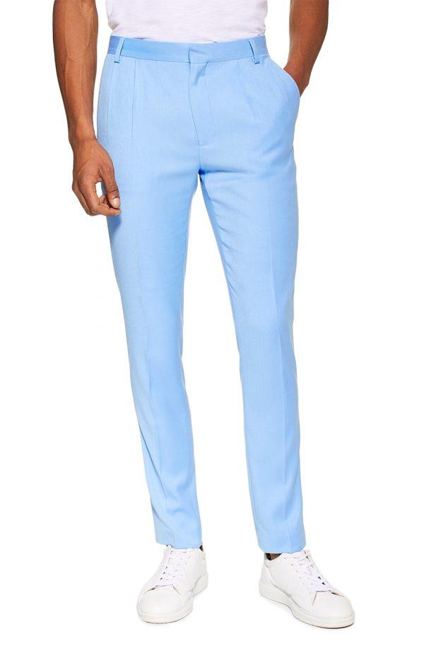 Men's Topman Skinny Fit Suit Trousers, Size 32 x 30 - Blue