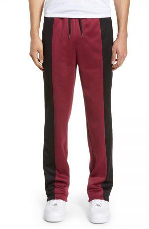 Men's Topman Straight Leg Panel Jogger Pants, Size Large - Black