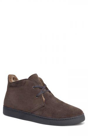 Men's Trask Ariston Genuine Shearling Chukka Boot, Size 9 M - Grey