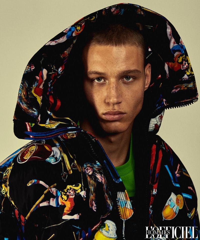 Michael Oder Rocks Designer Fashions for L'Officiel Hommes Ukraine