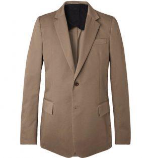 Mr P. - Brown Slim-Fit Cotton-Twill Blazer - Men - Brown