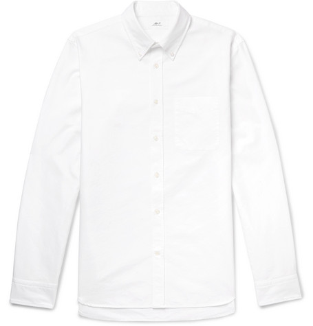 Mr P. - Button-Down Collar Cotton Oxford Shirt - Men - White