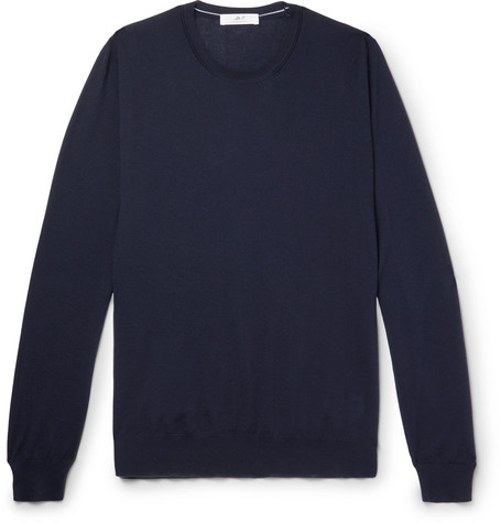 Mr P. - Cashmere Sweater - Men - Navy