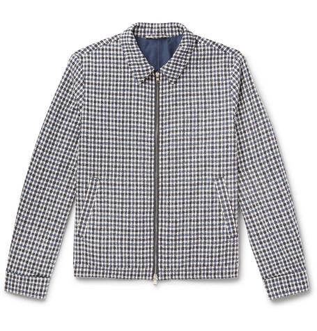 Mr P. - Checked Cotton-Blend Bouclé Jacket - Men - White