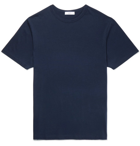 Mr P. - Cotton-Jersey T-Shirt - Men - Navy