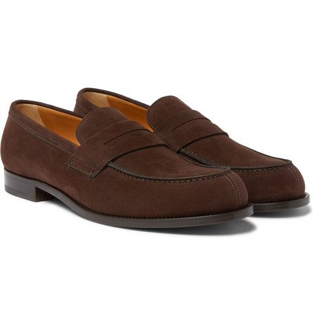 Mr P. - Dennis Suede Loafers - Men - Chocolate